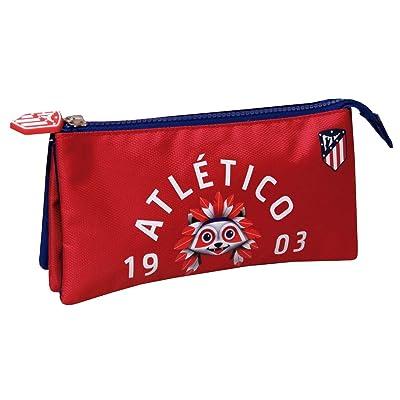 Atletico de Madrid PT-233-ATL Portatodo Triple: Juguetes y juegos