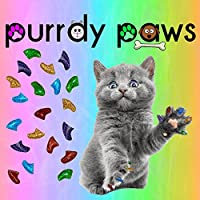 Soft Nail Caps for Cat Claws Rainbow Glitter Purrdy Paws (Medium)