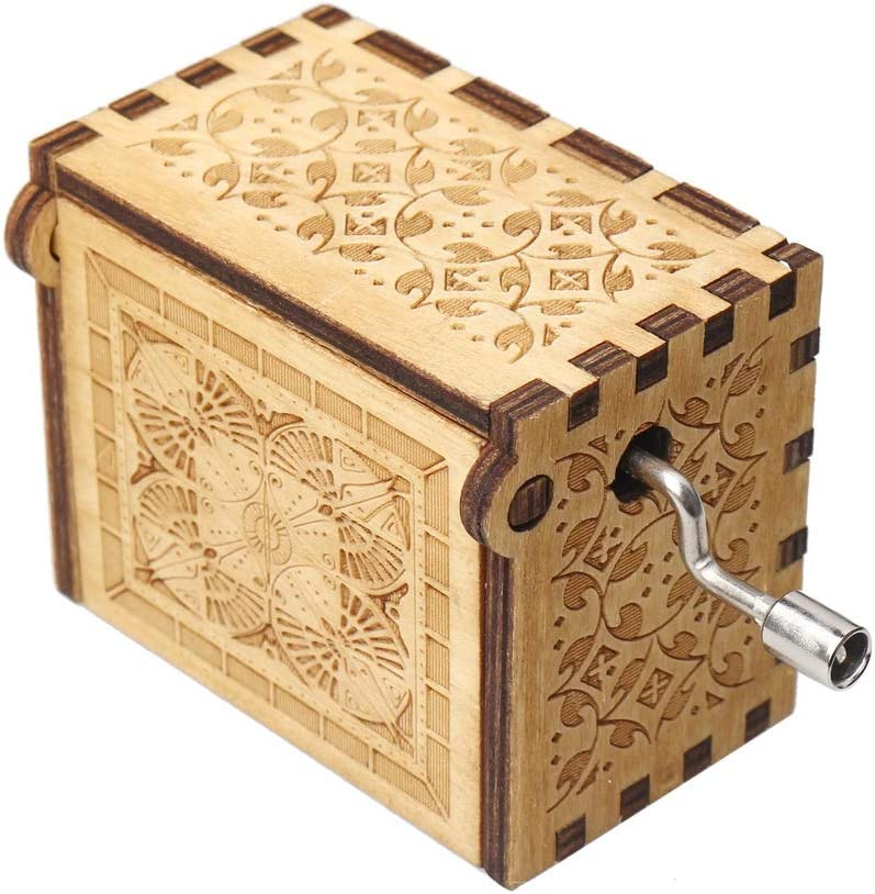 Mothers Day SUMAJU Wood Music Boxes,You are My Sunshine Laser Engraved Vintage Classic Music Box Gifts for Birthday,Valentines Day