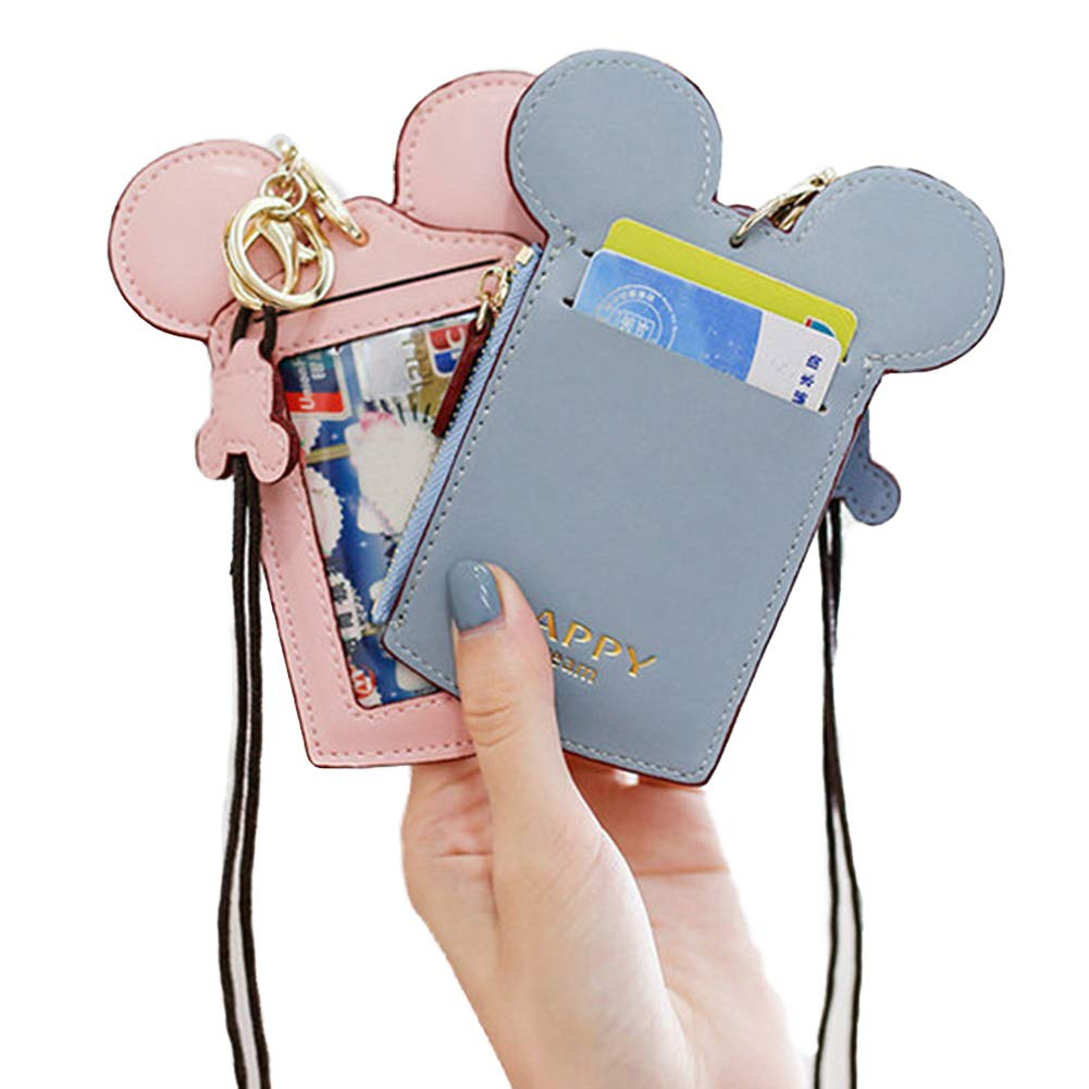 7 Colors Fashions New Leather Oyster Baby Travel Card Bus Pass Holder Wallet Rail Card Cover Case (Black) BLUK1246