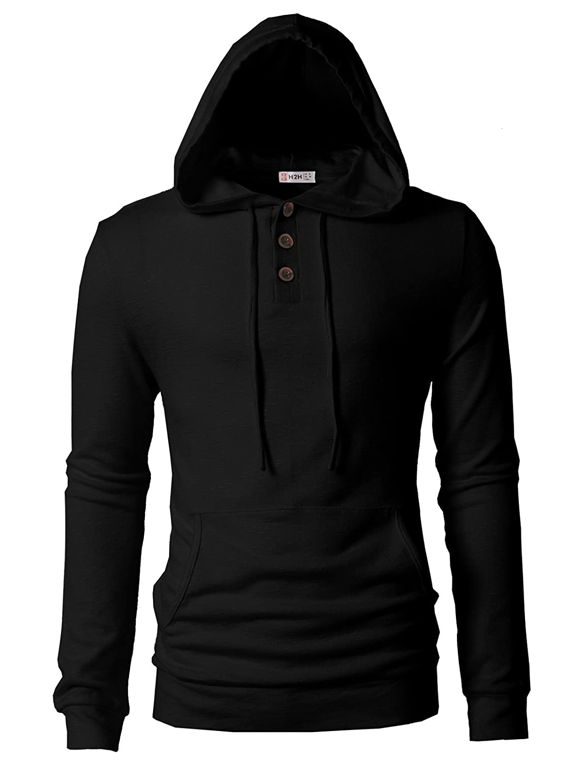 8b7692a1 H2H Mens Casual Pullover Hoodie Henley Long Sleeve Lightweight Sweatshirts  at Amazon Men's Clothing store:
