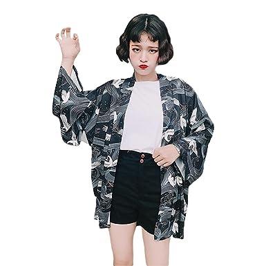 e40431c2ad3 ZooBoo Women Japanese Kimono Cardigan - Autumn Harajuku Style ...