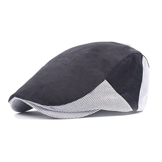 b94b9266e32 King Star Newsboy Cap for Men Women Ivy Gatsby Flat Cabbie Hat Black ...