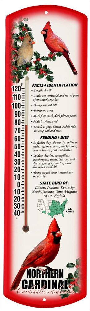 Heritage America by MORCO 375NC Northern Cardinal Outdoor or Indoor Thermometer, 20-Inch