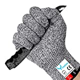 YINENN Cut Resistant Gloves 2 Pairs with Level 5 Hand Protection,Food Grade Safety Cutting Gloves for Oyster Shucking,Fish Fillet Processing,Mandolin Slicing,Meat Cutting,Wood Carving,Knife-(Small)