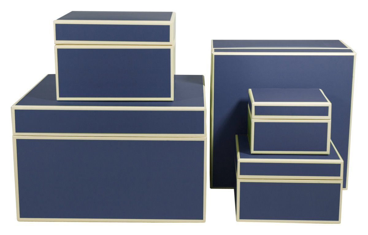 Set of 5 gift boxes marine +++ STORAGE BOXES +++ made Quality made +++ by Semikolon ba11ce