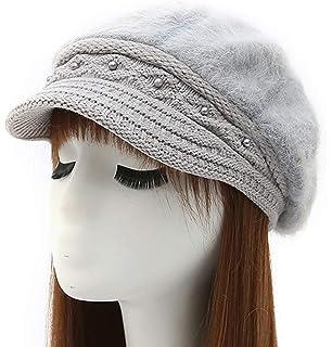 7355285c657 Epsion Women Winter Knit Crochet Newsboy Caps Lady Warm Pearl Knit Beanie  Hat