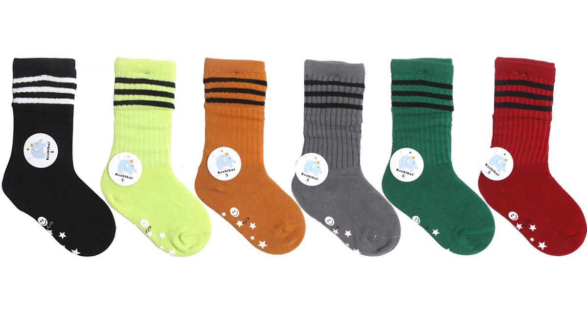 Butterme 6 set Piccolo unisex dei ragazzi delle ragazze del tubo calzini della banda calzettoni di cotone anti-Socks Inverno calza 1-10 anni ZUMUii ZUMU00002181