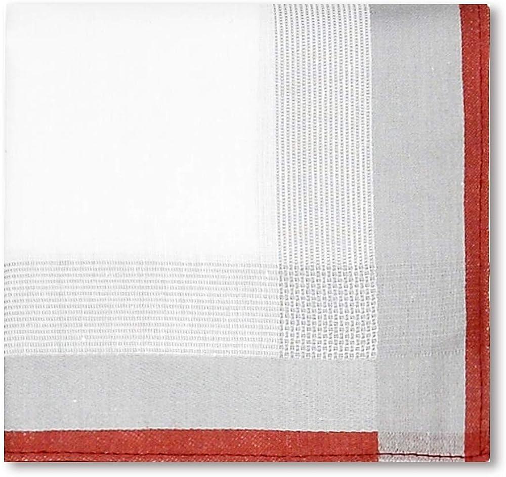 OLESILK Herren Stoff Taschent/ücher Set 100/% Baumwolle 40cm*40cm 6-er Pack