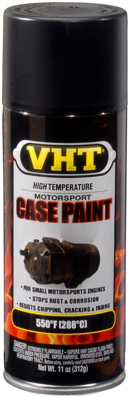 VHT ESP903007 Satin Black Engine Case Paint Can - 11 oz.