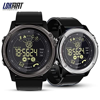 Amazon.com: LOKMAT Smart Watch Sport Pedometer Waterproof ...