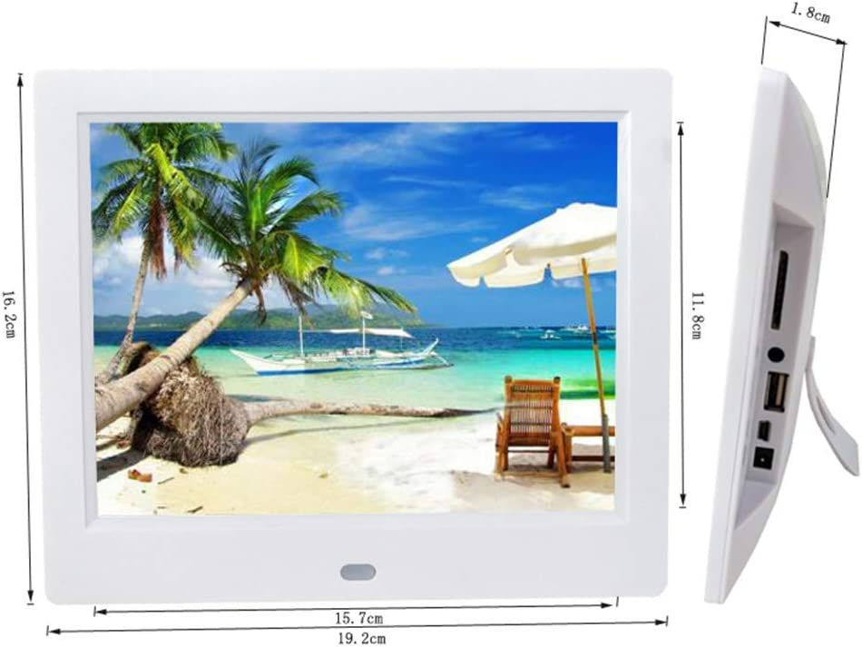 LoMe Digital Video Picture Frame,8 Inch 1024/×768 HD LED Screen Electronic Photo Frame with Calendar MP3//Photo//Video Player with Remote Control,Black