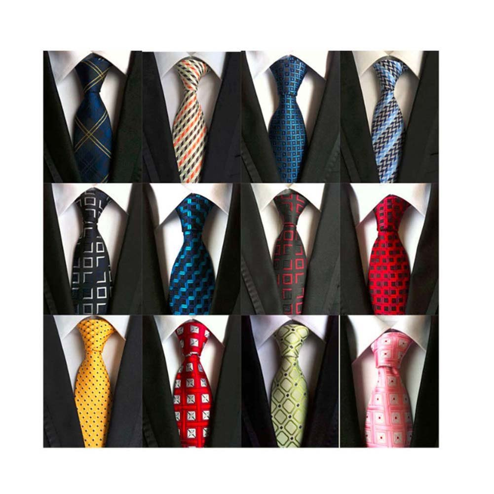 Weishang Lot 12 PCS Classic Men's Tie Silk Necktie Woven JACQUARD Neck Ties PS10_A