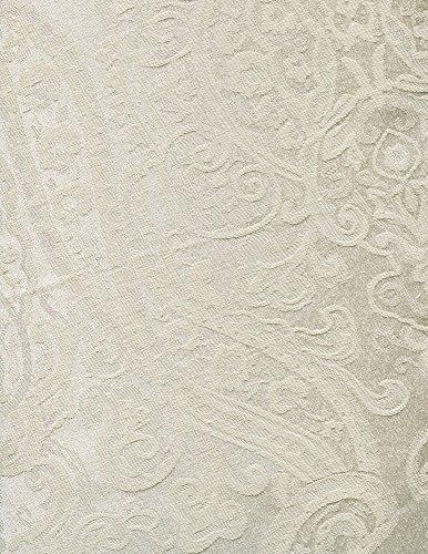 Ralph Lauren Paisley Oblong Tablecloth, Paisley Parchment Ivory, 70 x 104 inches