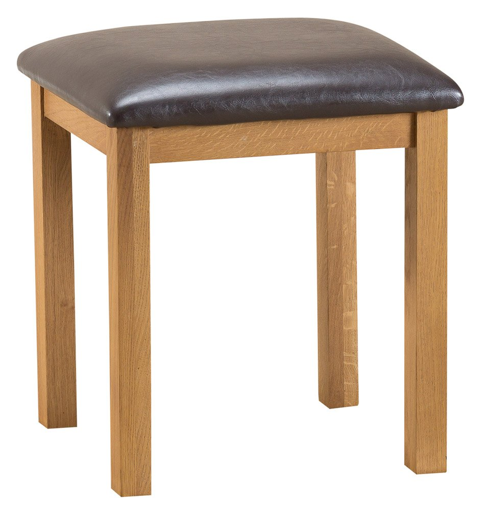 The Furniture Outlet Staffordshire Rustic Oak Stool Kettle Interiors