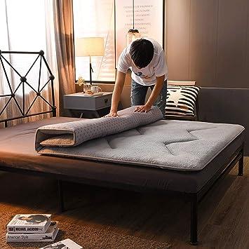 LJ Colchón Engrosado Plegable, Multifuncional, Dormitorio Doble, colchoneta para Dormir, Dormitorio Individual