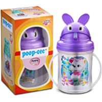 Poop-Cee Polypropylene Sippy Tumbler with Silicone Straw