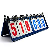 firelong Sport Anzeigetafel Tragbarer Tisch Top Score Flipper Metall Struktur leicht und tragbar–Noten von 0–999