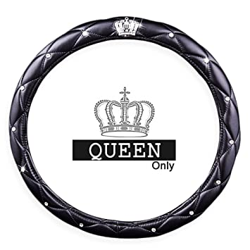 Amazoncom Queens Auto Steering Wheel Cover With Noble Crown