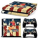 FriendlyTomato PS4 Console and DualShock 4 Controller Skin Set – USA Flag US AIRFORCE ARMY – PlayStation 4 Vinyl Review