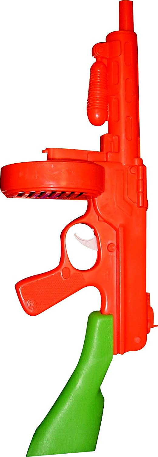 Rubie's Orange/Green Tommy Gun Toy Gangster Machine Gun Rubies - Domestic 6178