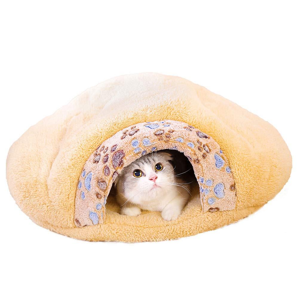 Brown 554813cm Brown 554813cm Pet Bed, Super Thick Super Soft cat nest, Cat Sleeping Bag cat Litter,Brown,55  48  13cm