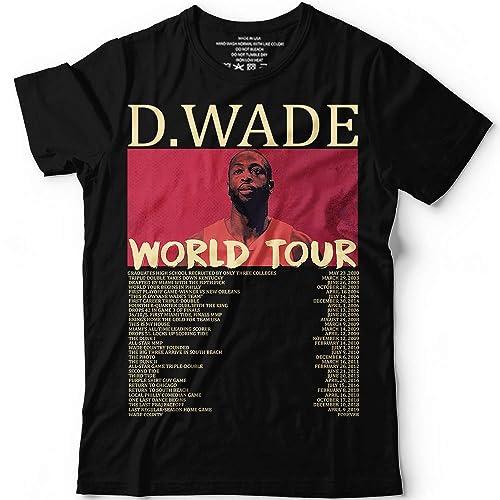 df9a8dfc7 D.Wade World Tour 2019 Basketball Customized Handmade T-Shirt ...