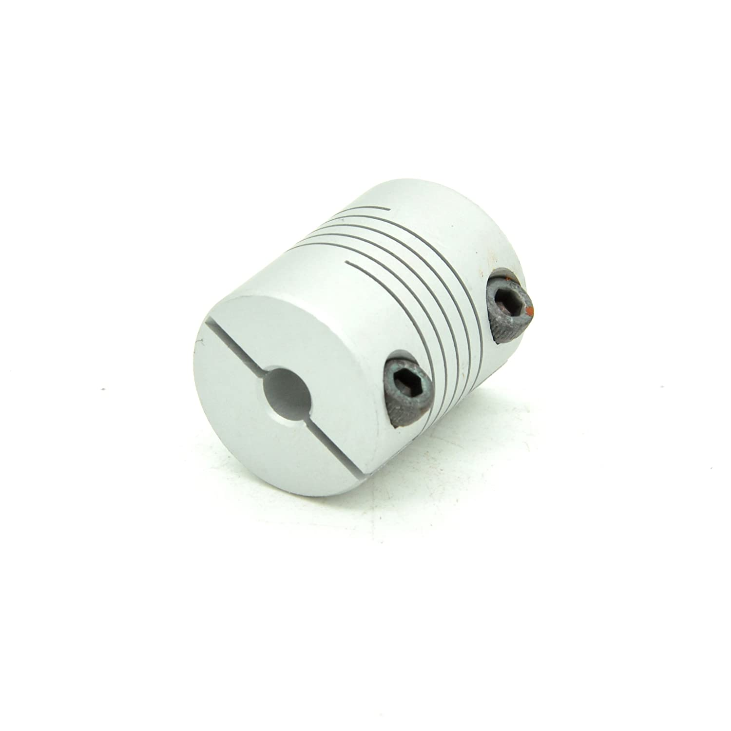 RobotDigg FCCD20L25-5-10 Flexible Coupling 5mm to 10mm Aluminum Alloy Beam Coupling Silver Color Flexible Clamping Coupler Pack of 4pcs