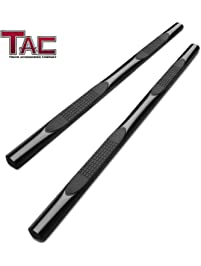 Amazon step rails running boards steps automotive tac 4 oval black side steps nerf bars running boards for 2005 2018 toyota fandeluxe Images