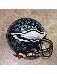 2017-18 PHILADELPHIA EAGLES Team Signed AUTOGRAPHED Full Size Authentic Riddell Proline HELMET w/COA Super Bowl Champs S.B. LII Nick Foles Carson Wentz 45 Autographs