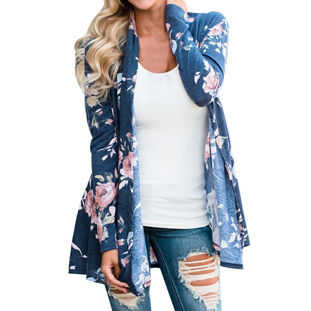 Clearance Sales! Women Kimono Cardigan Mikey Store Floral Open Front Kimono Casual Cardigan