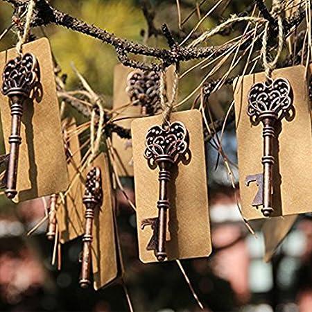 Esden - Abridor de botellas de vino con forma de llave de esqueleto vintage
