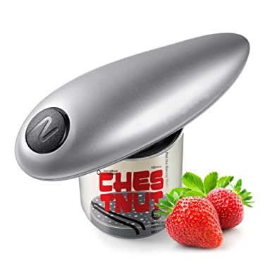 Electric Can Opener, Smooth Edge Automatic Can Opener for Any Size, Best Kitchen Gadget for Arthritis and Seniors (Gray)