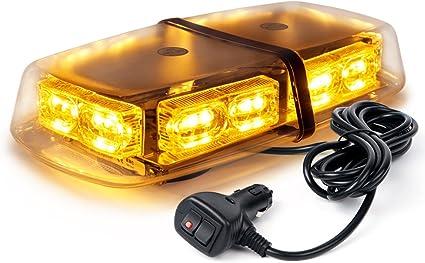 Yellow 36 LED Traffic Advisor Emergency Strobe Beacon Flash Warning Light Bar#15