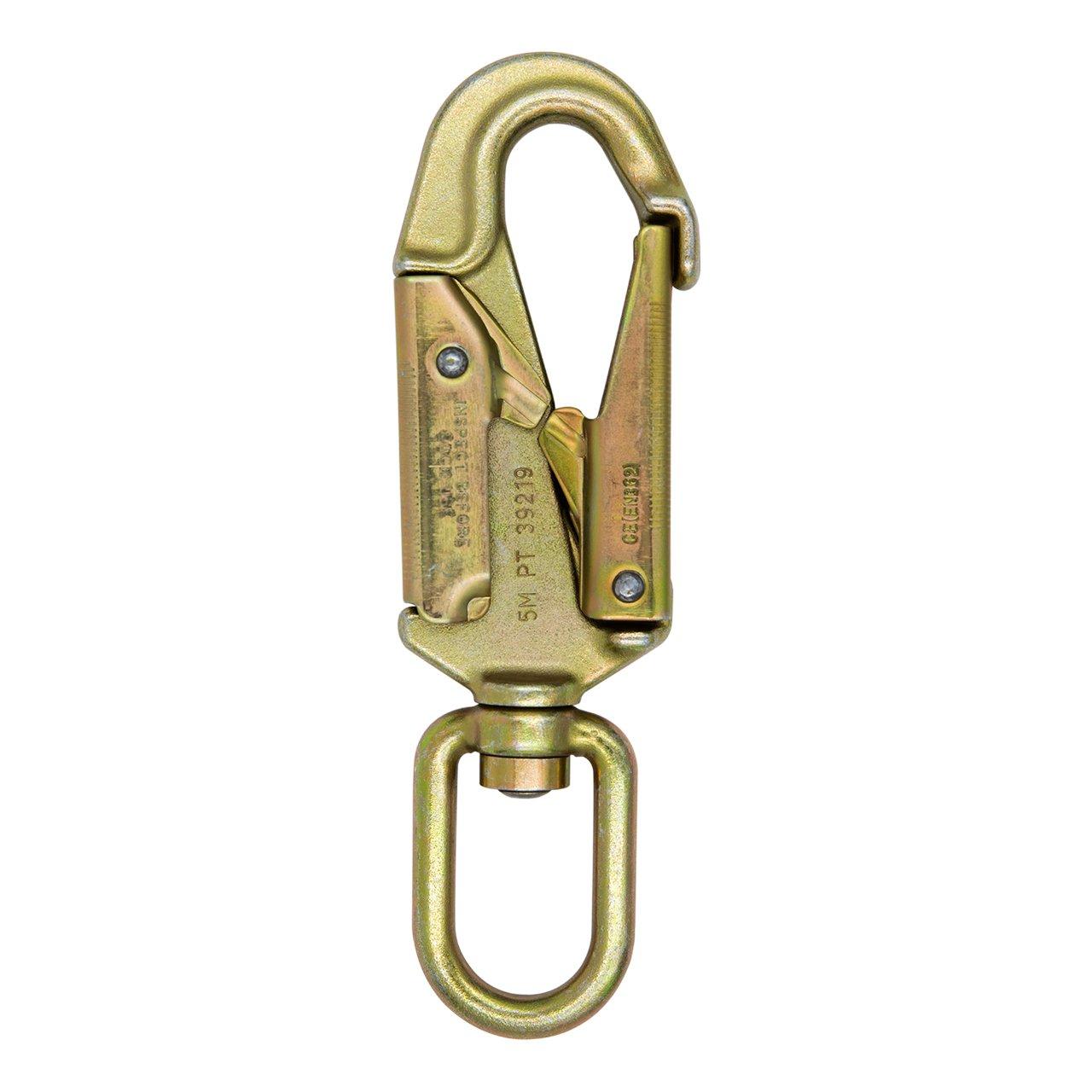 ProClimb Forged Steel Swivel Snap Hook Double-Lock Gate 23kN