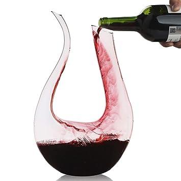 Décanteur, Smaier 1.2L Carafe de Décantation Classique Aérateur de vin,Accessoires  du Vin b2b34d7c03b3