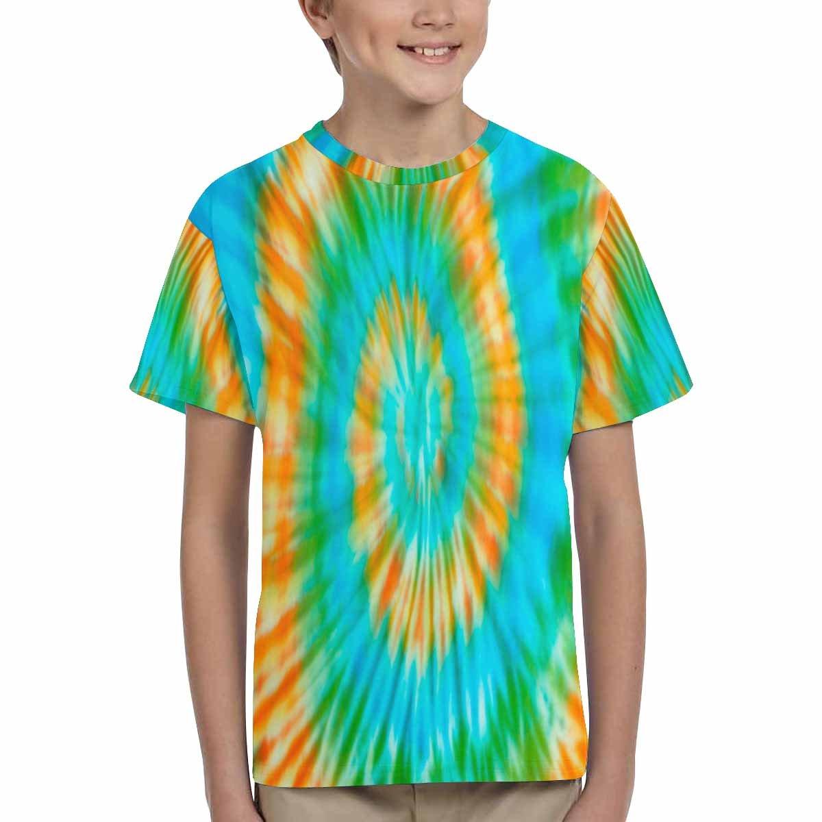 INTERESTPRINT Kids T-Shirt Blur Fabric Tie Dye Bright Colors XS-XL