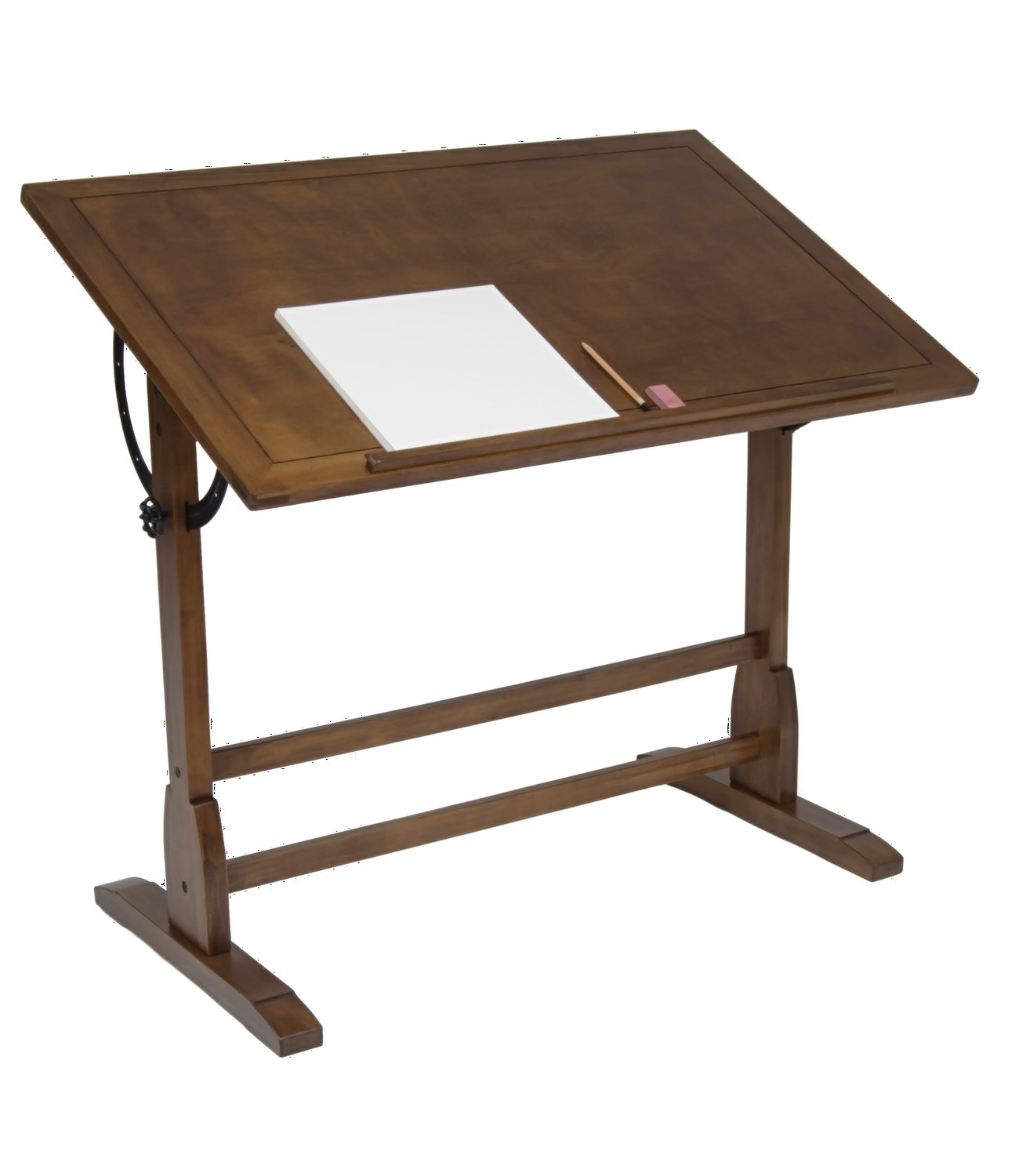 Amazon com offex elegant distressed wood vintage drafting table rustic oak 42 x 30 home kitchen