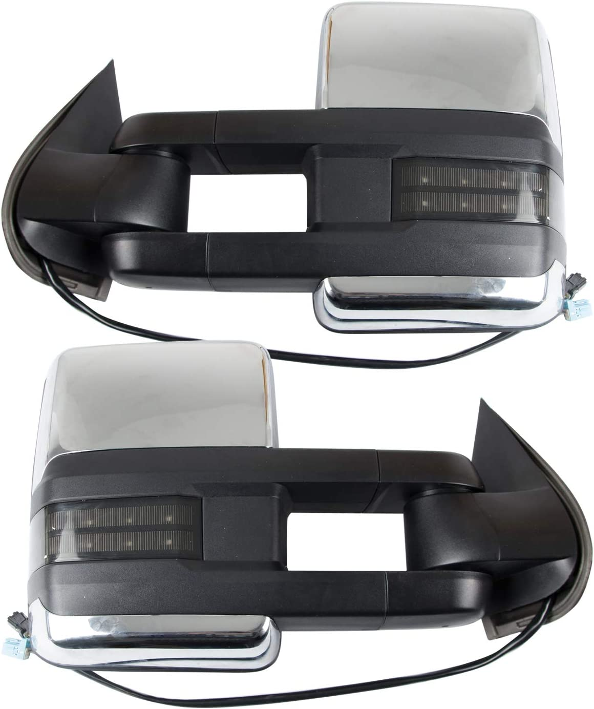 RANSOTO 1 pair LED turn Signal Light Tow Mirrors Compatible with 2003-2006 Chevy Silverado//Tahoe//Suburban//Avalanche//GMC Sierra//Yukon//Yukon XL//Cadillac Escalade,