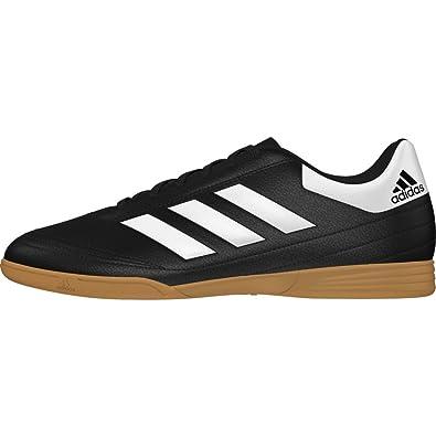 6fd0ab7cb8 Chuteira de Futsal Adidas Goletto VI IN Couro - Preto e Branco - 37 ...