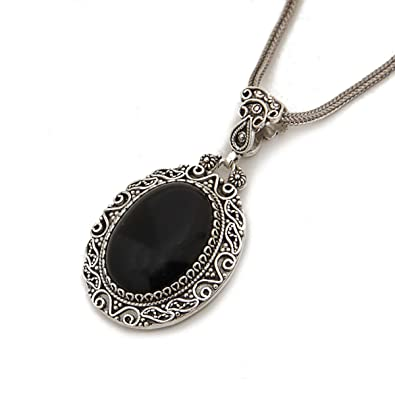 98dd2426a Image Unavailable. Image not available for. Color: 925 Sterling Silver  Black Onyx ...