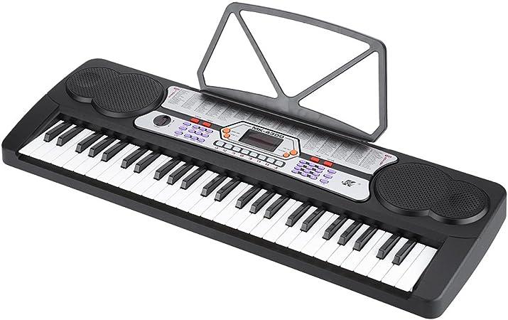 ammoon 54 Teclas Pantalla LED Música Electrónica Digital Teclado de Piano Órgano Eléctrico Titular con la Hoja de Música del Micrófono