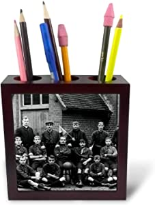 3dRose Early 1900s Edwardian Era Football Team Vintage - Tile Pen Holders (ph_334904_1)