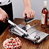 Frozen Meat Slicer, Roll Meat Vegetable Meat Cheese Food Slicer, Manual Frozen Meat Slicer Stainless Steel Beef Mutton Roast Slicing Machine, Manual Gravity Slicer for Home Kitchen or Commercial