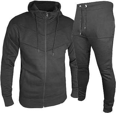 Mens Tracksuit Top Bottom Pants Fleece Designer Slim Fit Hooded Hoodie S M L XL