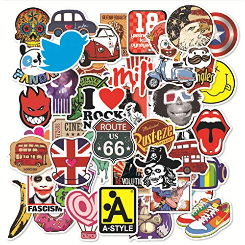 [2019 New] 100 Pcs Fashion Brand Stickers for Laptop Stickers Motorcycle Bicycle Skateboard Luggage Decal Graffiti Patches Stickers [No-Duplicate Sticker Pack] (Best Motor Scooter Brands 2019)