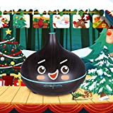 VicTsing 300ML Essential Oil Diffuser, BPA-Free Wood Grain Whisper Quiet Cool Mist Humidifier with 7 Color LED Lights - Black Brwon