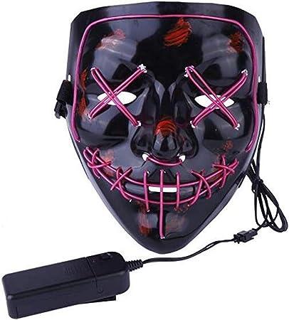 LG&S Máscaras iluminadas, 3 Modos de iluminación LED Disfraz de ...