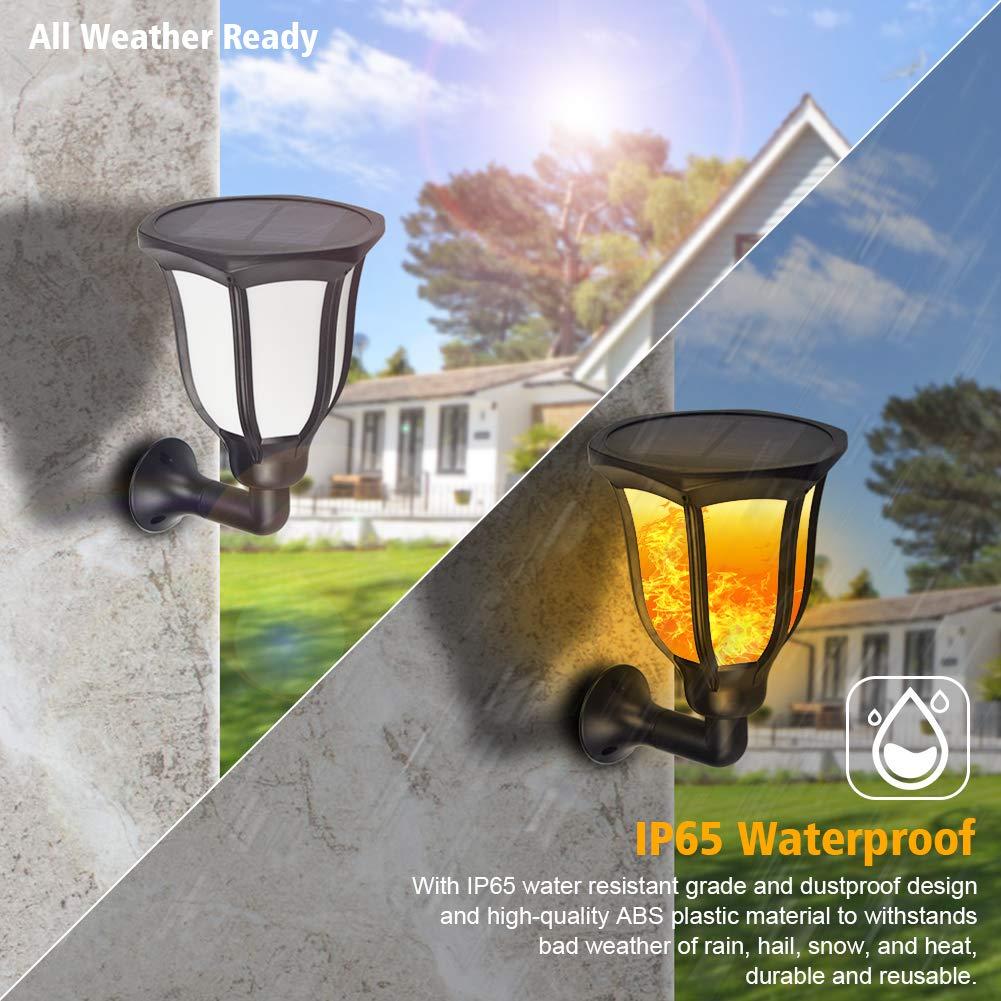 1 PCS Lampes Solaires Jardin Ext/érieur IP65 96 LEDS Effet Flamme Lampe Torche Solaire pour Jardin//Pelouse//Mariage//Chemin//F/ête Zubita Lumi/ères Solaire Flammes