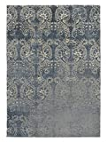 KAVKA Designs Cleo Area Rug, (Blue) - PARISIAN Collection, Size: 5x7x.5 - (TELAVC8222RUG57)